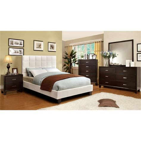 ivory bedroom set furniture of america hellan 4 piece queen bedroom set in