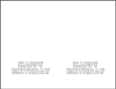birthday card printer template diy birthday card free printable template student handouts