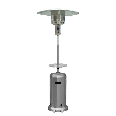 Umbrella Halogen Patio Heater Sense 1 500 Watt Black Umbrella Mounted Halogen Electric Patio Heater 60404 The Home Depot