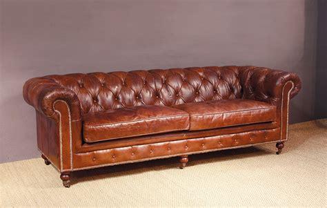sofa chester cuero sof 225 chester piel envejecida tachuelas en portobellostreet es