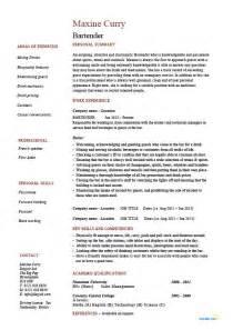 Bartending Resume Samples Bartender Resume Hospitality Example Sample Job