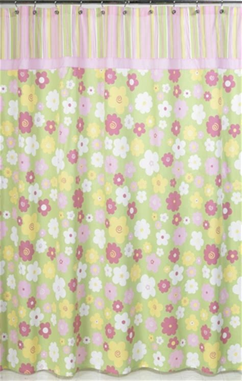 green and pink shower curtain pink and green blossom kids bathroom fabric bath shower