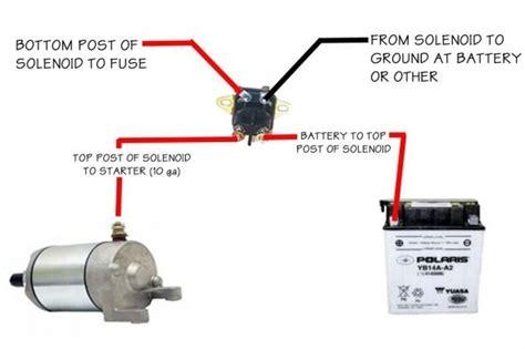 pole starter solenoid wiring diagram  images