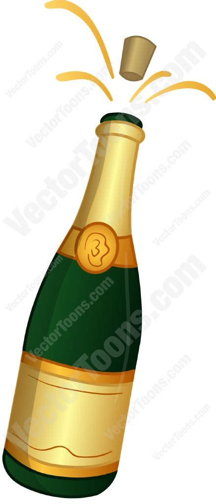wine bottle emoji cartoon clipart chagne bottle with the cork popping out