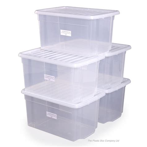 plastic bathroom storage containers buy 50lt uni plastic storage boxes with lids free delivery
