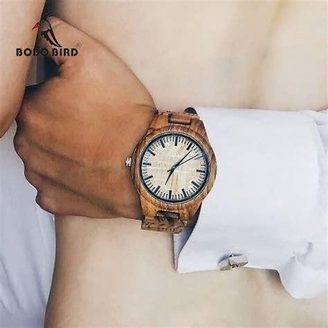 Bobo Bird 2017 Two Tone Wooden For Quartz Brand Design bobo bird e03 bambooo wooden hexagonal form wristwatch