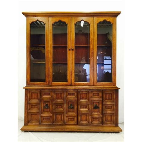 black china cabinet with glass doors vintage glass door china cabinet chairish
