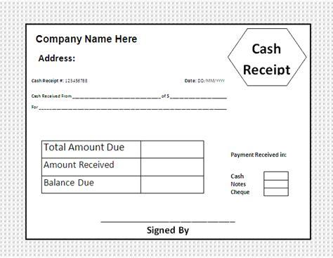 Cash Payment Receipt Template Free Cash Receipt Template Free Business Templates