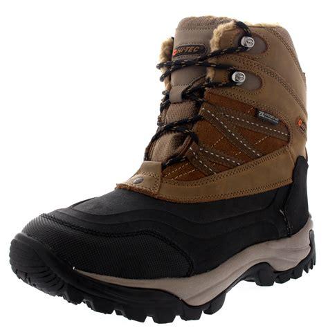 hi tec snow boots mens mens hi tec snow peak 200 lace up waterproof mid calf