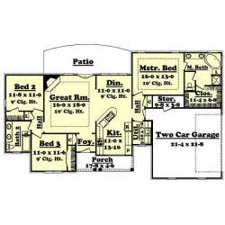 1600 Sq Ft Floor Plans by 1600 Sf 3 Bedroom Modern Open Floor Plans 1600 Square