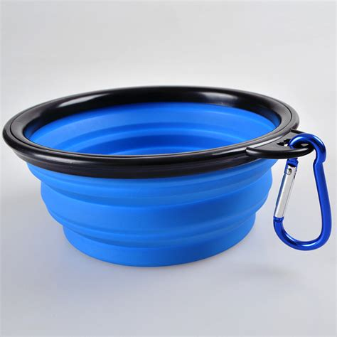 portable water bowl portable foldable collapsible pet cat food water feeding bowl dish feeder ebay
