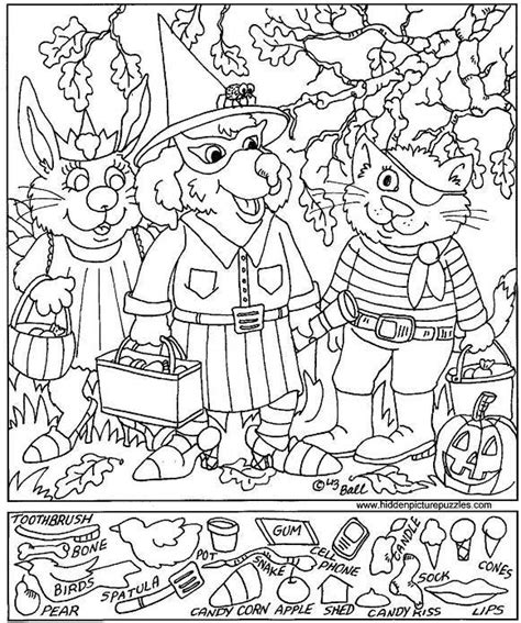 printable halloween hidden picture puzzles free puzzles