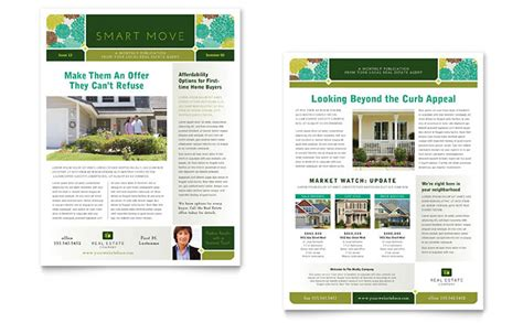Real Estate Newsletter Template Design Newsletter Template Powerpoint