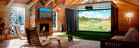 indoor golf simulator hd and swing