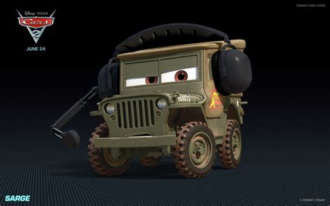 cars movie jeep the sarge jeep from disney s cars desktop wallpaper