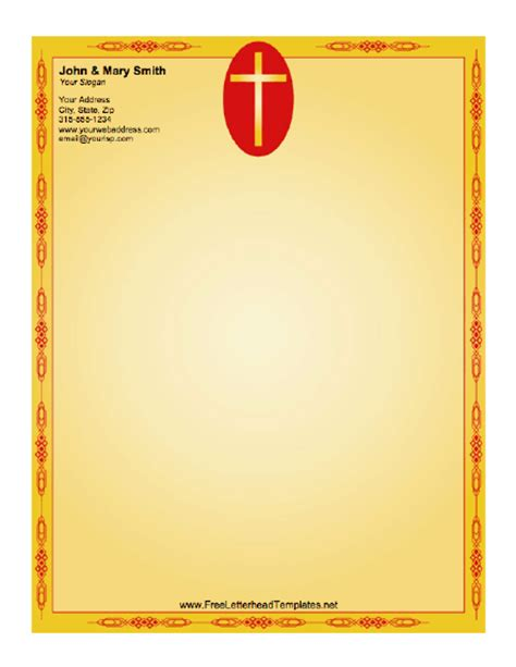 free church letterhead templates cross letterhead