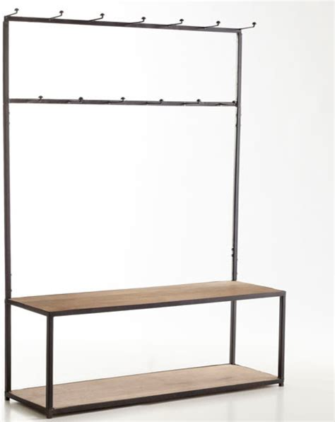modern hall tree bench open frame hall tree bench modern storage and organization dallas by wisteria