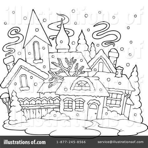coloring christmas village border coloring pages