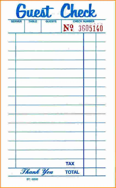Restaurant Receipt Template Doc by Blank Restaurant Receipts Www Pixshark Images