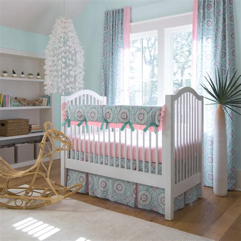 baby crib bedding aqua haute baby crib bedding carousel designs