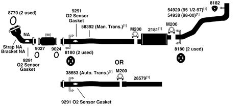 1997 Toyota Camry Exhaust System Diagram Toyota Tacoma Exhaust System Diagram Exhaust Diagram