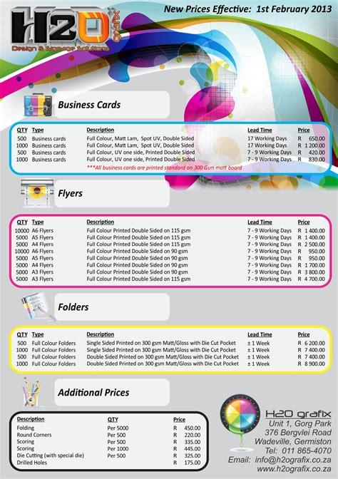 graphic design services price list studio design