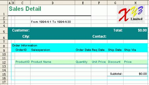 excel sales report template free excel reporting templates free business template