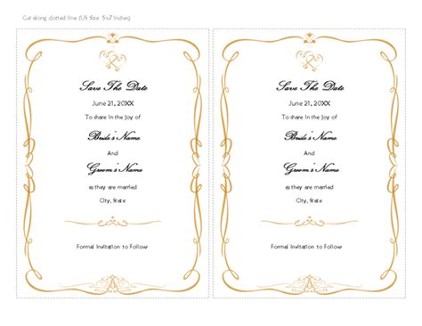 download free printable invitations of save the date card