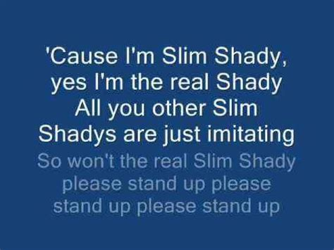 eminem the real slim shady lyrics eminem the real slim shady songs lyrics pinterest