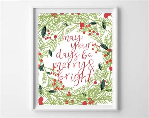 merry bright christmas printables for framing free christmas printables merry bright