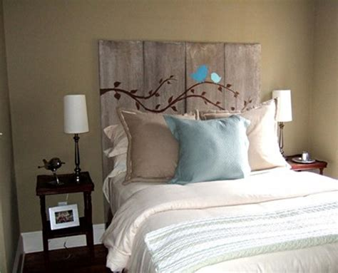 bedroom ideas on pinterest headboard ideas plank 41 creative diy headboards ideas for your bedroom snappy