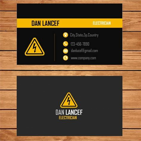 Electricians Business Cards Templates by 12 Best Design Templates For Electricians Images On