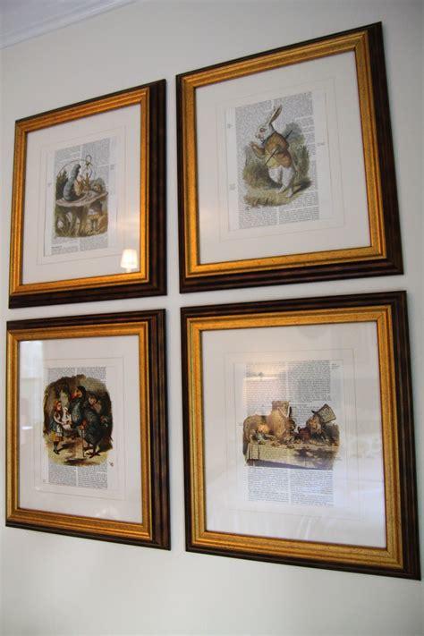 photo frames for home decor framed book sheets alice in wonderland easy gold frame diy