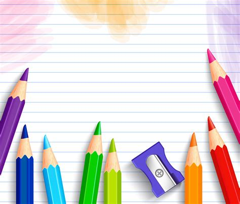 Notice Clipart School Background Pencil And In Color by School Background With Pencils Gallery Yopriceville