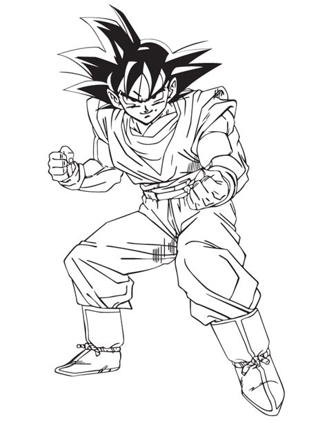 free dbz goku ssj3 coloring pages