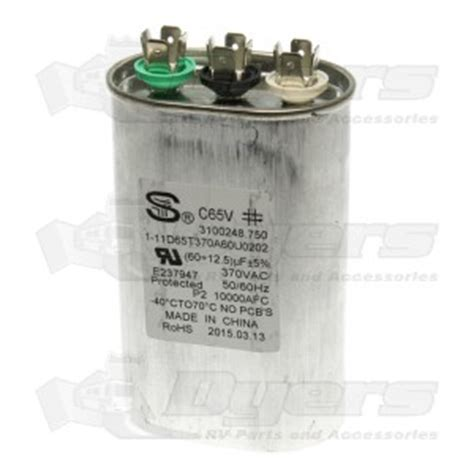 rv ac boost capacitor dometic a c capacitor 60 12 5 mfd air conditioner parts air conditioners rv appliances