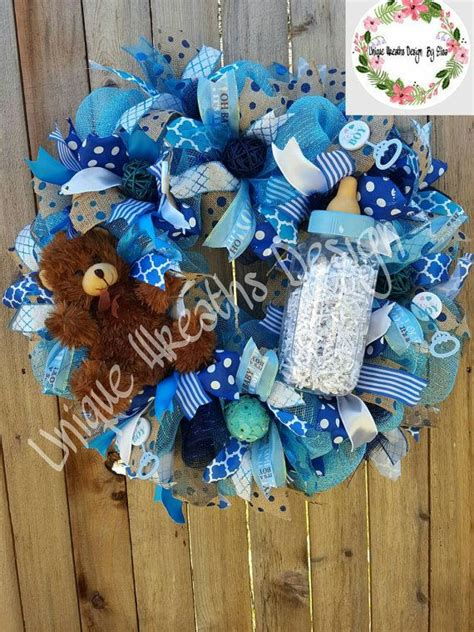 baby shower door decorations 17 best ideas about baby boy wreath on baby