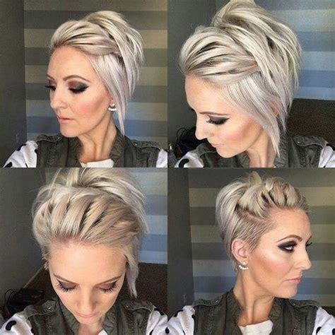 best way to sytle a long pixie hair style long undercut pixie perfectly imperfect messy braids for