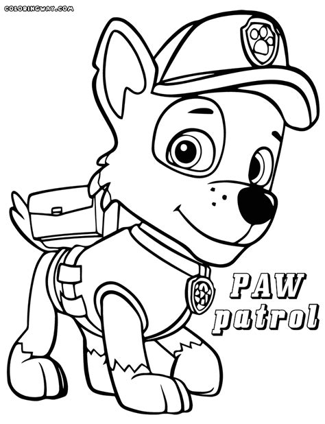 coloring page for paw patrol paw patrol coloring page coloring home