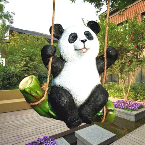 jardin panda the koala panda statue garden ornaments animal sculpture