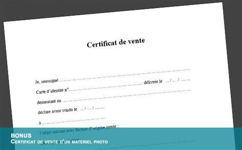 Télécharger gratuitement un certificat de vente pour un