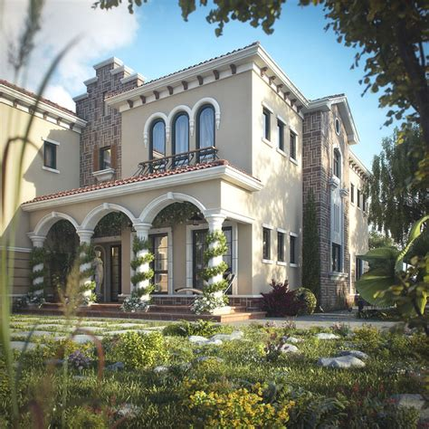 4 Bedroom House Plans One Story by Tuscan Inspired Villa In Dubai Idesignarch Interior