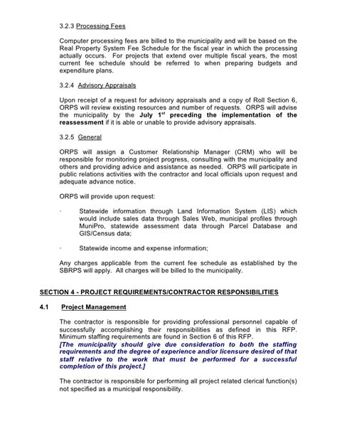 standard rfp template sle request for proposals rfp and cover memo