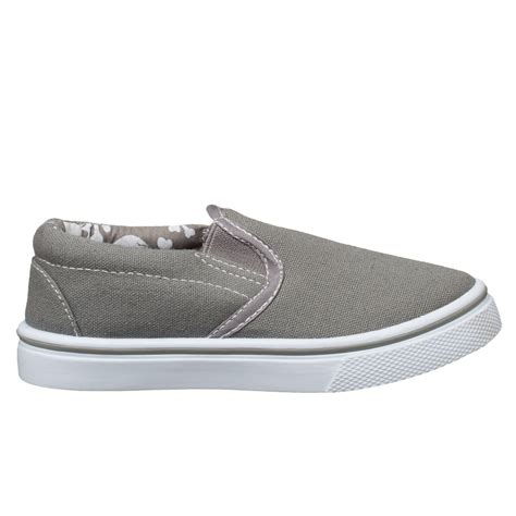toddler slip on shoes b m gt boys toddler slip on canvas shoes grey 2893302
