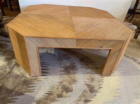 large mid century modern geometric bamboo rattan