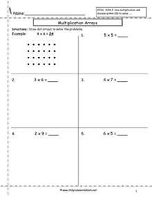 multiplication array worksheets temporary board