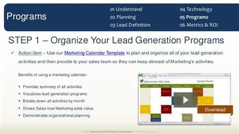 Demand Creation Planning Template Slides Download Four Quadrant Lead Generation Strategy Template