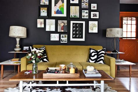 best wall colors for black paintings home tour emma s living room a beautiful mess