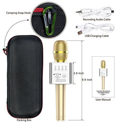 Microphone Karaoke Bluetooth For Mobil Phone Q9 mifanstech q9 mini wireless microphone portable handheld cellphone karaoke player universal