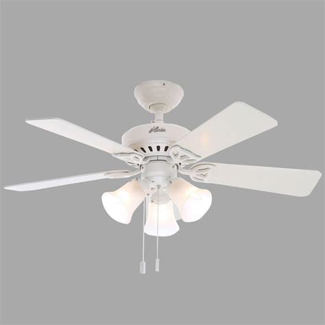Beacon Hill 42 In Indoor White Ceiling Fan With